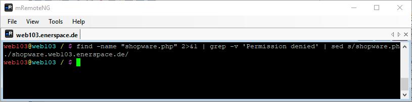 Linux Shell: Ausgabe des Befehls find